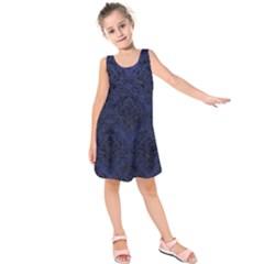 DMS1 BK-MRBL BL-LTHR (R) Kids  Sleeveless Dress