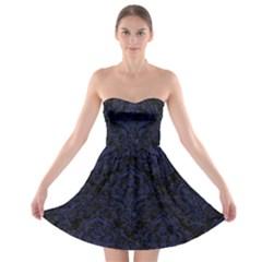 DMS1 BK-MRBL BL-LTHR Strapless Bra Top Dress