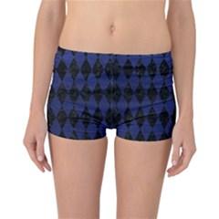 DIA1 BK-MRBL BL-LTHR Reversible Bikini Bottoms