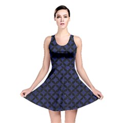 CIR3 BK-MRBL BL-LTHR (R) Reversible Skater Dress