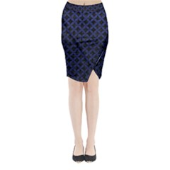 CIR3 BK-MRBL BL-LTHR Midi Wrap Pencil Skirt