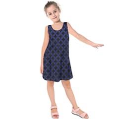 CIR3 BK-MRBL BL-LTHR Kids  Sleeveless Dress