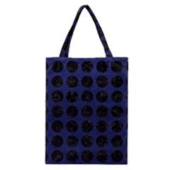 CIR1 BK-MRBL BL-LTHR (R) Classic Tote Bag
