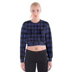 CIR1 BK-MRBL BL-LTHR Women s Cropped Sweatshirt