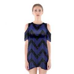 CHV9 BK-MRBL BL-LTHR (R) Shoulder Cutout One Piece