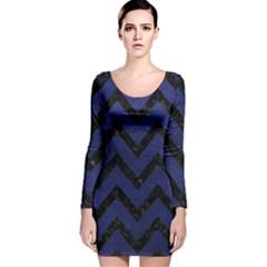 CHV9 BK-MRBL BL-LTHR (R) Long Sleeve Velvet Bodycon Dress
