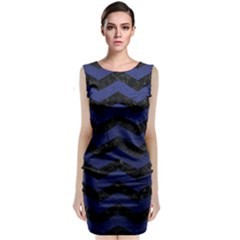 CHV3 BK-MRBL BL-LTHR Classic Sleeveless Midi Dress