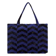 CHV2 BK-MRBL BL-LTHR Medium Tote Bag