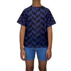CHV1 BK-MRBL BL-LTHR Kids  Short Sleeve Swimwear
