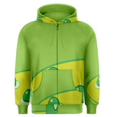 Food Egg Minimalist Yellow Green Men s Zipper Hoodie