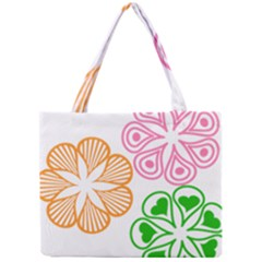 Flower Floral Love Valentine Star Pink Orange Green Mini Tote Bag