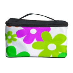 Flowers Floral Sunflower Rainbow Color Pink Orange Green Yellow Cosmetic Storage Case