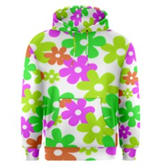 Flowers Floral Sunflower Rainbow Color Pink Orange Green Yellow Men s Pullover Hoodie