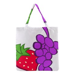 Fruit Grapes Strawberries Red Green Purple Grocery Tote Bag
