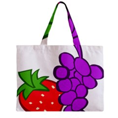 Fruit Grapes Strawberries Red Green Purple Mini Tote Bag