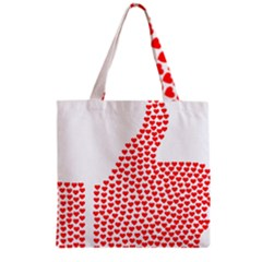 Heart Love Valentines Day Red Sign Grocery Tote Bag