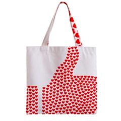 Heart Love Valentines Day Red Sign Zipper Grocery Tote Bag