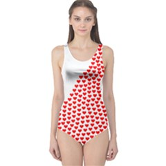 Heart Love Valentines Day Red Sign One Piece Swimsuit