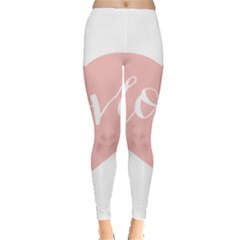 Love Valentines Heart Pink Leggings