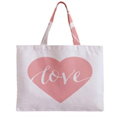 Love Valentines Heart Pink Mini Tote Bag