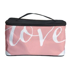 Love Valentines Heart Pink Cosmetic Storage Case