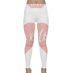 Love Valentines Heart Pink Classic Yoga Leggings