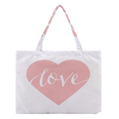 Love Valentines Heart Pink Medium Tote Bag