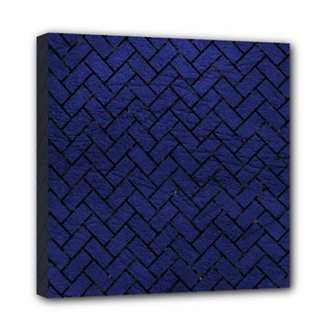 BRK2 BK-MRBL BL-LTHR (R) Mini Canvas 8  x 8