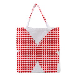 Hearts Butterfly Red Valentine Love Grocery Tote Bag