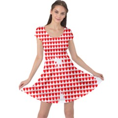 Hearts Butterfly Red Valentine Love Cap Sleeve Dresses