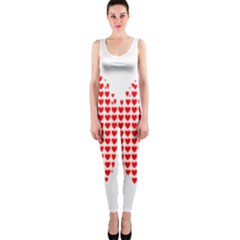 Hearts Butterfly Red Valentine Love OnePiece Catsuit