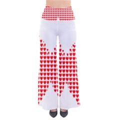 Hearts Butterfly Red Valentine Love Pants