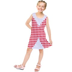 Hearts Butterfly Red Valentine Love Kids  Tunic Dress