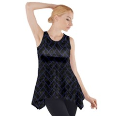 BRK2 BK-MRBL BL-LTHR Side Drop Tank Tunic