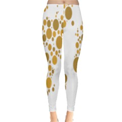 Map Dotted Gold Circle Leggings