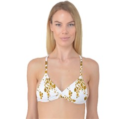 Map Dotted Gold Circle Reversible Tri Bikini Top