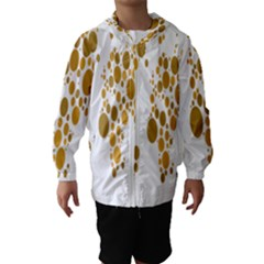 Map Dotted Gold Circle Hooded Wind Breaker (kids)