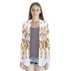 Map Dotted Gold Circle Cardigans