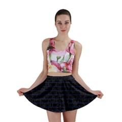 BRK1 BK-MRBL BL-LTHR Mini Skirt