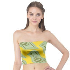 Money Dollar $ Sign Green Yellow Tube Top