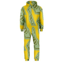 Money Dollar $ Sign Green Yellow Hooded Jumpsuit (Men)