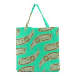 Money Dollar $ Sign Green Grocery Tote Bag