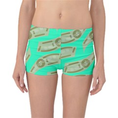 Money Dollar $ Sign Green Boyleg Bikini Bottoms