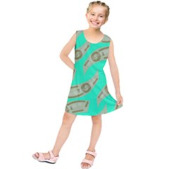 Money Dollar $ Sign Green Kids  Tunic Dress