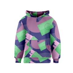 Money Dollar Green Purple Pink Kids  Pullover Hoodie