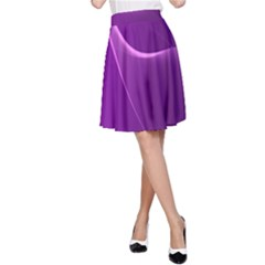 Purple Line A Line Skirt