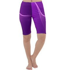 Purple Line Cropped Leggings