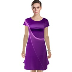 Purple Line Cap Sleeve Nightdress