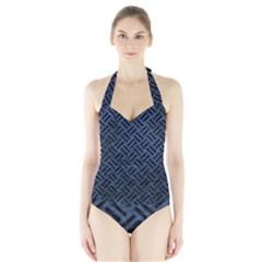 WOV2 BK-MRBL BL-STONE (R) Halter Swimsuit