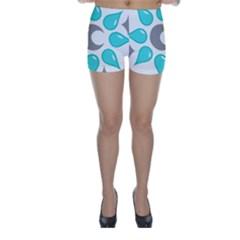 Moon Water Star Grey Blue Skinny Shorts